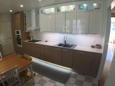 MDF & EK / MDF & Tammi / MDF & Oak + keramisk / keraaminen / ceramics + Siemens